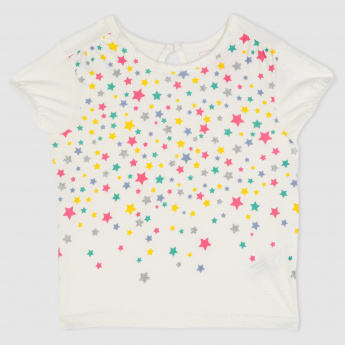 Star Print Short Sleeves T-Shirt