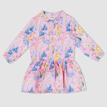 Printed Long Sleeves Dress