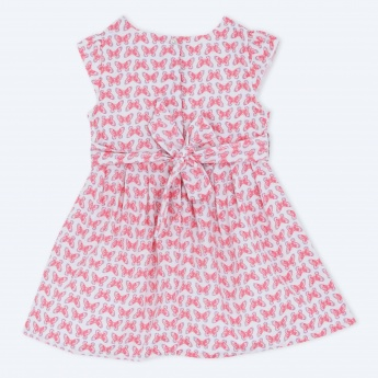 Printed Short Sleeves Woven Dress
