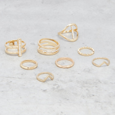 Assorted Finger Ring - Set of 8