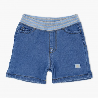 Denim Shorts with Elasticised Waistband