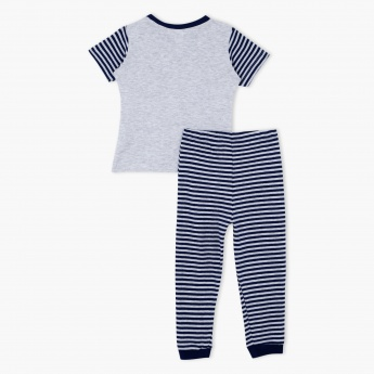 Striped T-Shirt and Pyjama Set