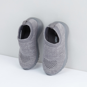 Mesh Detail Slip-On Shoes