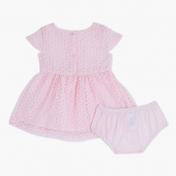 Round Neck Dress and Bloomer Set