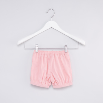 Striped Embroidered Top with Bow Detailed Shorts