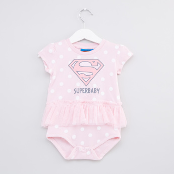 Superbaby Printed Bodysuit with Frill Detail