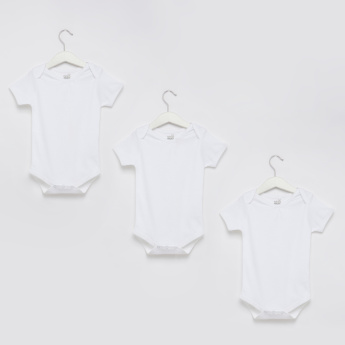 Short Sleeves Bodysuit - Set of 3