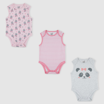 Printed Bodysuit - Set of 3