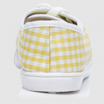 Chequered Lace-Up Shoes