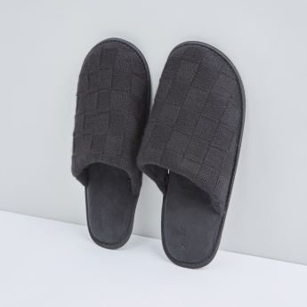 Textured Plush Bedroom Slides
