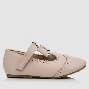 Laser Cut Shoes with Bow Applique