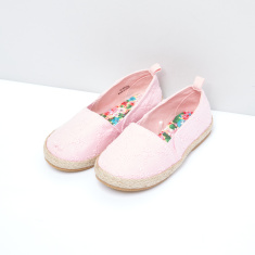 Embroidered Slip-On Espadrille Shoes