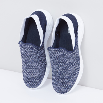 Textured Slip-On Shoes with Elasticised Heels