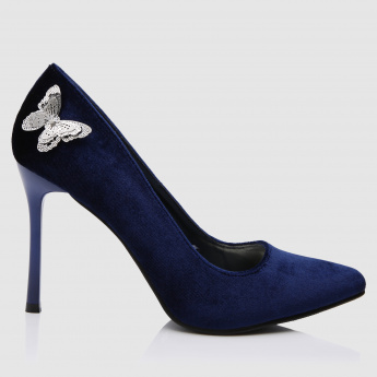 Applique Detail Slip-On Stilettos