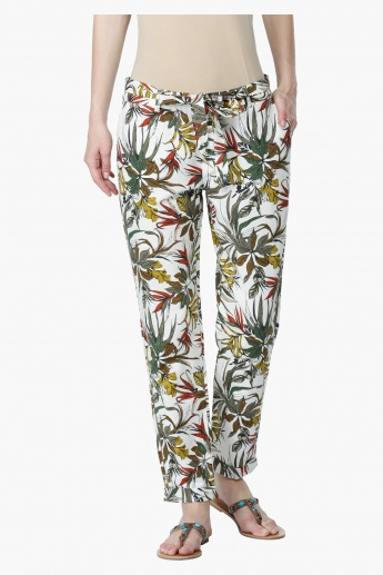 Printed Full Length Harem Pants
