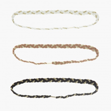 Braided Hair Bandeaus - Set of 3