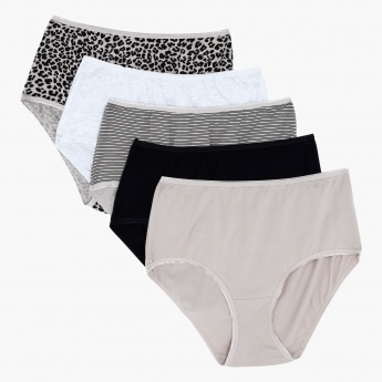 High Leg Briefs - Set of 5