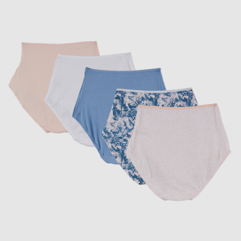 Assorted Hipster Briefs with Elasticised Waistband - Set of 5