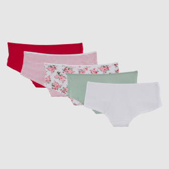 Assorted Boyshort Briefs - Set of 5