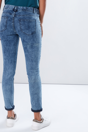 Woven Denim Jeggings in Skinny Fit