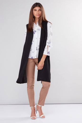 Open Front Sleeveless Jacket