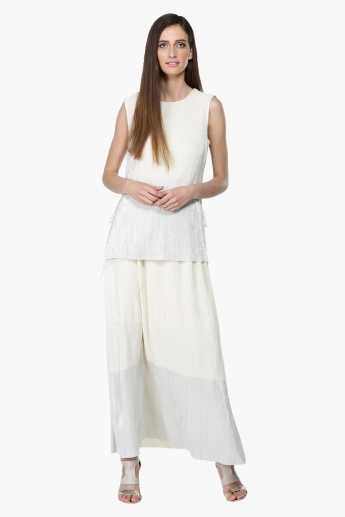 Maxi Skirt with Ribbed Waistband