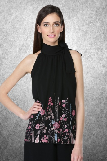 Printed Halter Neck Top