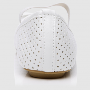 Laser Cut Detail Slip-On Shoes