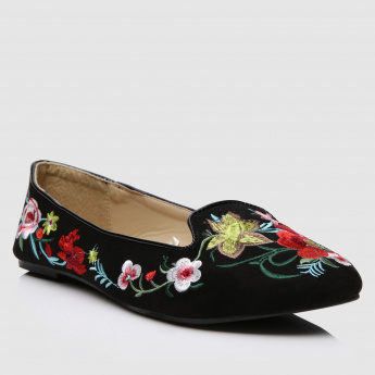 Embroidered Slip-On Shoes