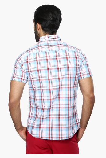 Chequered Short Sleeves Casual Shirt