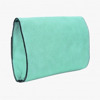 Texture Clutch with Snap Closure