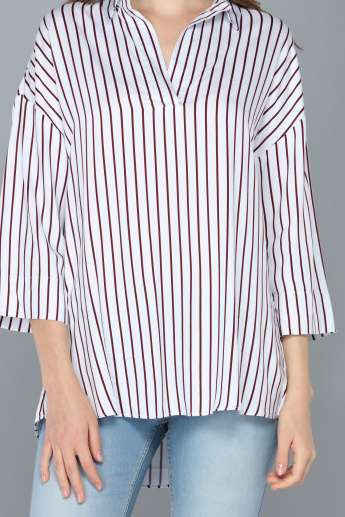 Striped Tunic with Long Sleeves