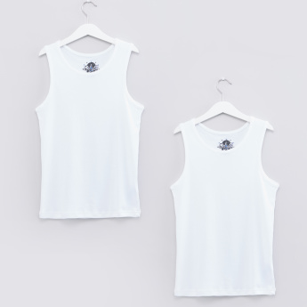 Round Neck Sleeveless Vest - Set of 2