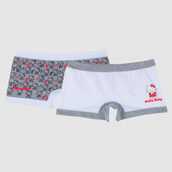 Printed Hello Kitty Briefs with Elasticised Waistband - Set of 2