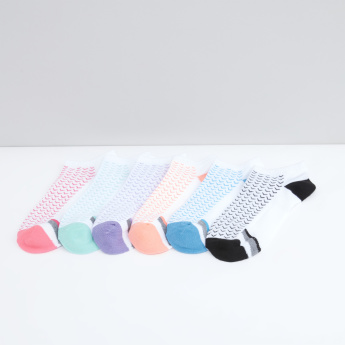 Set of 6 - Printed Ankle Length Sports Socks