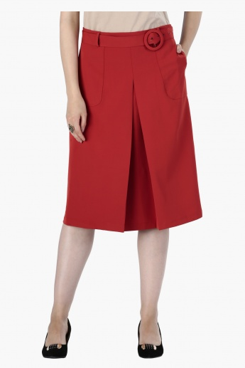 Knee Length Skirt with Zip Closure