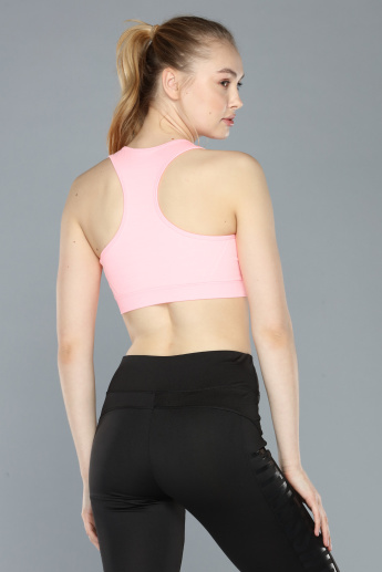 Round Neck Sports Bra with Racerback