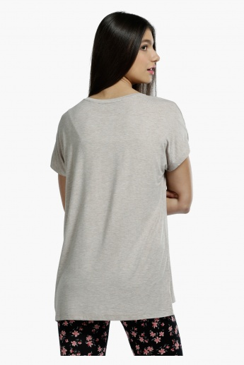 Round Neck T-shirt with Short Sleeves in Regular Fit