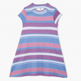 Striped Short Sleeves Dress