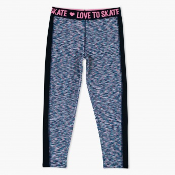 Printed Squad Goals Crop Leggings