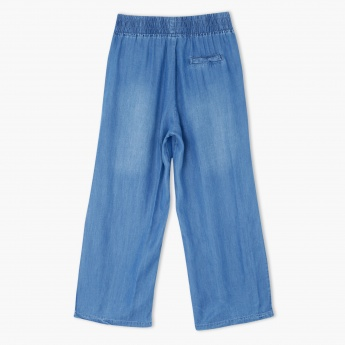 Denim Culottes with Elasticised Waistband