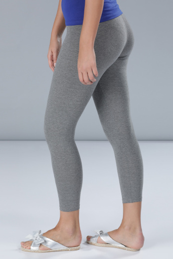 Melange Full Length Leggings in Skinny Fit