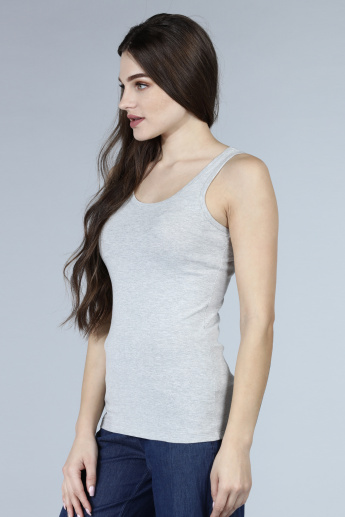 Melange Sleeveless T-Shirt