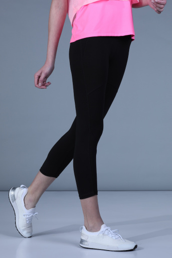 Solid Capri with Elasticised Waistband
