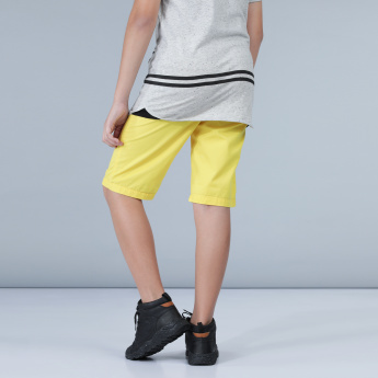 Woven Pull-On Shorts with Drawstring