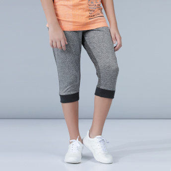 Printed Capris with Drawstring