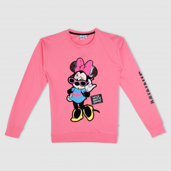 Minnie Mouse Printed Long Sleeves Sweatshirt