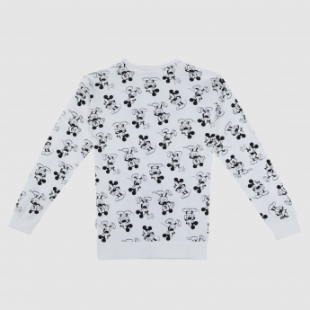 Mickey Mouse Printed Long Sleeves Sweatshirt