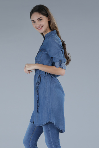 3/4th Sleeves Tunic with Complete Placket