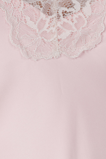 Lace Detail Sleep Dress with Spaghetti Straps